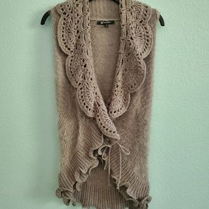 Milano grey crochet sweater vest